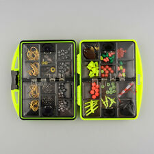 Assorted Tackle Box Jig Swivels Clamp Hooks Fishing Accessories Outdoor NEW