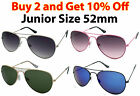 AVIATOR PILOT CLASSIC STYLE METAL FRAME SUNGLASSES SHADES JUNIOR SIZE 52mm