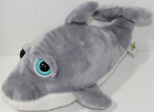 The Petting Zoo BRIGHT EYES GRAY DOLPHIN Stuffed Plush Animal SOFT TOY Cute