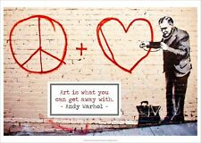 POP ART PRINT - Untitled San Francisco, 2010 by BANSKY Andy Warhol Poster 20x28