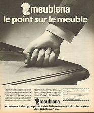 Publicité 1974  MEUBLENA magasin de meubles