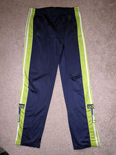 """ADIDAS FLUORESCENT GREEN TRACKSUIT BOTTOMS / PANTS (MENS, SIZE 30"""", GREAT COND)"""