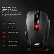 2.4G Wireless 4800DPI Programmable Mouse 500Hz Polling Rate Great Hand-feeling