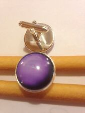 Gift Bag + 925 Silver Plated Space Cufflinks Planet Neptune Cuff links A09