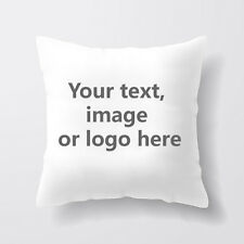 Customised Square Pillow Case Cushion Cover Personalised Custom Gift Image 40cm