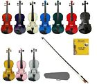 New Violin,Case,Bow+Free Rosin,2 Sets Strings~ Student,Beginner,Starter,Toy,Gift