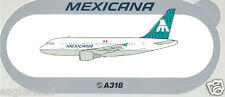 Baggage Label - Mexicana - Airbus A318 - Sticker (BL431)