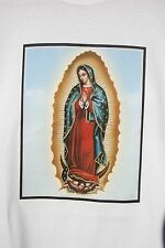 retro art vintage mens t shirt cotton Lady of Guadalupe