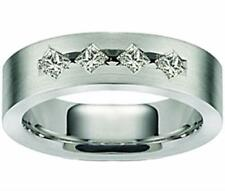 0.65 ct Men's Princess Cut Diamond Wedding Band Ring In Platinum