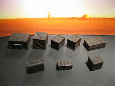 Star Wars G.I. Joe Custom Cast Wooden Crate Set of 8 Diorama Parts 3.75 Scale