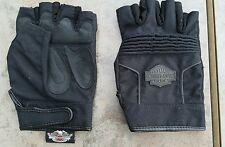 Harley Davidson mens fingerless gloves large
