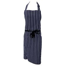 NAVY/WHITE STRIPED NYLON COATED BUTCHERS/ KITCHEN/COOK/CHEF WATERPROOF APRON
