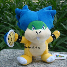 "Super Mario Bros Ludwig Koopa With Shell 8"" Plush Toy Bowser Son Koopalings Doll"