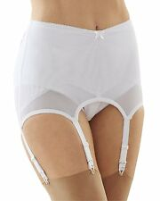Cortland Foundations 6 Strap White Garter Belt Shaper Girdle Size XL
