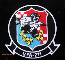 VFA-211 CHECKMATES US NAVY HAT PATCH USS PIN UP NAS Oceana FA18 HORNET WOW