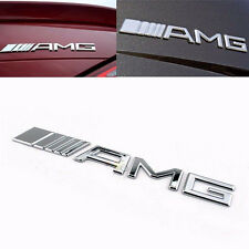 1pc New AMG Car Sticker Chrome 3D Emblem Badge Decal Bright Silver Cool Style