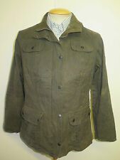 Ladies Barbour L173 Flyweight Waxed Utility Jacket UK 16 Euro 42 in Green