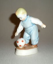 Zsolnay Hungarian Porcelain Boy with Ball Figurine
