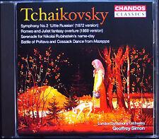 Geoffrey SIMON: TCHAIKOVSKY Symphony No.2 Romeo and Juliet CD Chandos Sinfonie