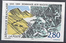 HOMMAGE AUX MAQUIS MAQUISARDS N°2876 TIMBRE NON DENTELÉ IMPERF 1994 NEUF ** MNH