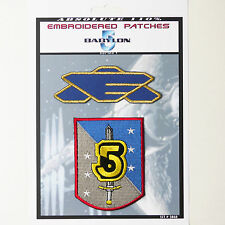 BABYLON 5 Babcom Crew Patches Iron-On Patch Super Set #068  FREE POST