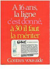 PUBLICITE ADVERSTISING  1973   CONTREX  eau minérale
