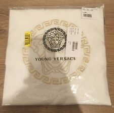 Young Versace Medusa Ivory & Gold Reversible Baby Blanket UNISEX £290
