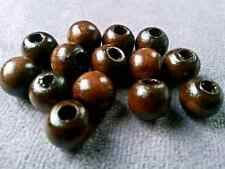 100pcs 8mm  coffee Big hole wood Spacer bead