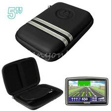 "5"" Hard Carry Case Cover For Garmin Nuvi 57LM 58LM 5'' GPS Sat Nav With Storage"