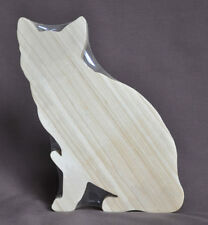 Sitting Pretty  Cat Cutting Cheese Board Feline Amish Made Solid  Wood Figure