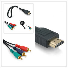HDMI Male to Hot Cable Adapter 3 RCA Video Audio AV For HDTV DVD 1080P Component