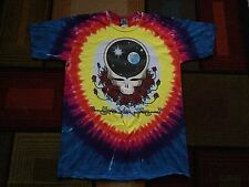 Vintage 90s 1992 Grateful Dead Tie Dye T-Shirt Space Your Face Skeleton Skulls L