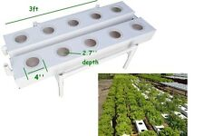 2 Rows Square Style 4'' Diamter Hydroponic 10 Plant Site Grow Kit Garden Outdoor