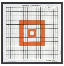 New! Allen Company Grid Style Remington Sight-In Target 100 Yard 12 Pack #1520