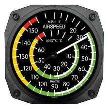 """New Trintec 6"""" Airspeed Instrument Style Thermometer 9061 A Great Aviation Gift"""