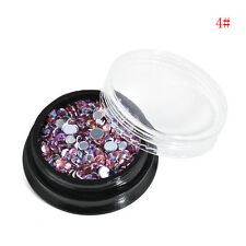 Chic Bling Nail Art Glitters Acrylic Crystal Manicure Supplies Nail Tips Decor