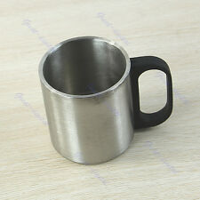 Stainless Steel Outdoor Camping Coffee Mug Tumbler Double Wall Bilayer Cup