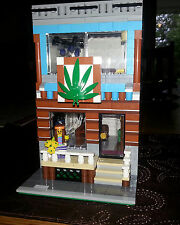 LEGO Custom Modular Building INSTRUCTIONS ONLY - The Hemp Shop And Apartment