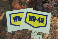 WD40 x2 autocollants paire decal nascar usa course vélo moto 65mm x 45mm