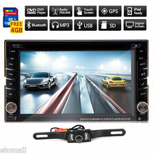 Camera+GPS Navigation Double 2Din Car Stereo DVD Player iPod Bluetooth MP3 Radio