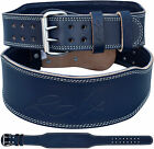 """RDX Weight Lifting 4"""" Leather Belt Fitness Back Support Strap Training Gym Power"""