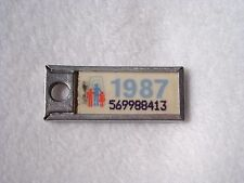 1987 CANADA Vintage Mini License Plate WAR AMPS KEY TAG #569988413