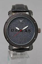 Dallas- Men's Diamond King watch - Bling -Casual - Genuine Diamonds - Black