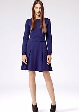 Gorgeous REISS 1971 Cobalt Kula Quilted Bodycon Fit & Flare Dress UK 6 US 2 £139