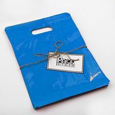 100 16x18 ROYAL BLUE Plastic Retail Die-Cut Handle Merchandise Bag - Boutique