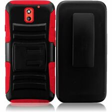 For HTC Desire 610 612 Robotic Holster Belt Clip Combo KickStand Cover Case NEW