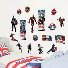 3D The Avengers Removable Wall Sticker PVC Vinyl Art Decals Nursery Room UK