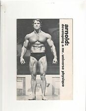 DEVELOPING A MR UNIVERSE PHYSIQUE muscle booklet by ARNOLD SCHWARZENEGGER 1977