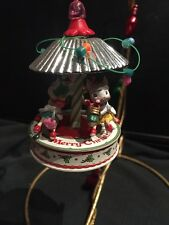 CARLTON CHRISTMAS ORNAMENT: WEE WHATNOTS MICE on CAROUSEL new in box