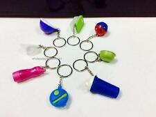 8 NEW TUPPERWARE KEYCHAIN KEYRING KEY CHAIN WITH DISPLAY CASE LIMITED RELEASE
